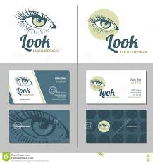 business card with woman eye logo vector template stock vector