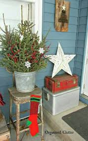 Vintage Metal Christmas Decorations by Vintage Sled And Metal Bucket For Outdoor Christmas Decor