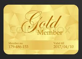 golden member card with registration number and date of expiration