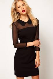 semi sheer top sleeve dress oasap sleeved dress