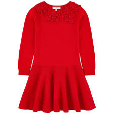 cotton and cashmere sweater dress lili gaufrette for girls