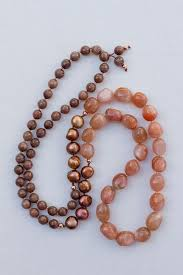 long beads necklace images 35 quot long beaded gemstone necklace with tumbled sunstone freshwater pe jpg