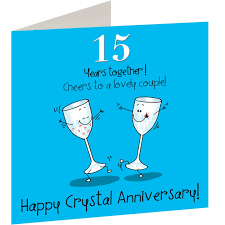 15th wedding anniversary card