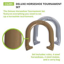 amazon com champion sports tournament horseshoe set classic