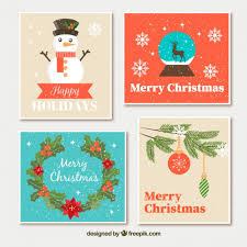 retro christmas cards retro christmas cards with ornaments vector free
