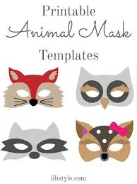 felt animal mask printable templates