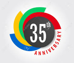35 year anniversary 35th anniversary celebration background 35 years anniversary