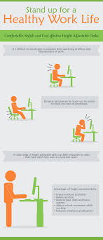 advantages of standing desk sitting for long hours at work can be stressful for the back and