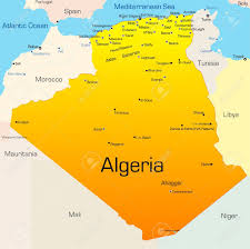 algeria map abstract vector color map of algeria country royalty free cliparts
