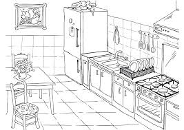 coloring pages of kitchen things kitchen coloring pages download large image kitchen items coloring