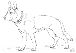 fancy german shepherd coloring page 12 free printable dogs and