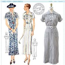historical pattern review mid 1930 s gina dress pattern wearing history