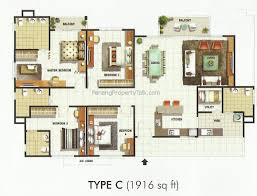 Foresta Floor Plan Meridien Residence Penang Property Talk