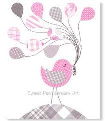 Bird Decor For Nursery Grey And Pink Birds Bird Nursery Pink Birds Nursery 8