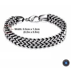 black chain bracelet images Stainless steel double side snake chain bracelet project yourself jpg