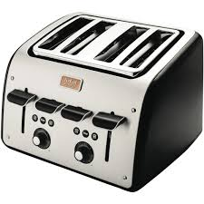4slice Toasters Tefal Tt7708 Avanti Toaster Black At The Good Guys