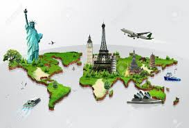 travel world map map world mouments major tourist attractions maps