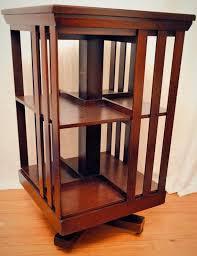 Oak Revolving Bookcase Mahogany Revolving Bookcase John Danner From Front Porch On Ruby Lane