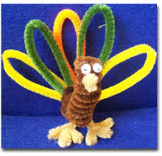 thanksgiving crafts with pipe cleaners thanksgiving turkey one