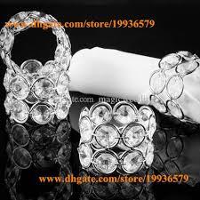 silver crystal ring holder images Bling metal crystal beaded bling bling napkin rings serviette jpg
