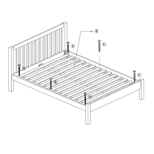 How To Assemble A Bed Frame What Are Bed Frame Slats Mattress
