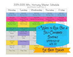 4 ways to rock out a self contained schedule the eager teacher