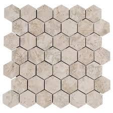 tarsus gray hexagon porcelain mosaic 12in x 12in 100129246