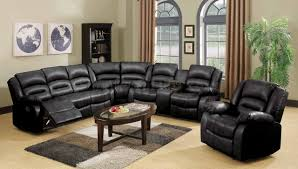 Reclining Sectional Sofa 9171 9241 Reclining Sectional Sofa In Black Bonded Leather