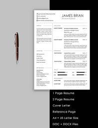 2 page resume template 5 page resume template and cover letter