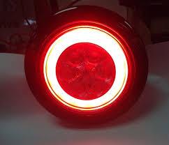 led brake lights for trucks 2 red led 4 round truck trailer brake stop turn tail lights with