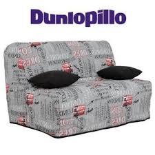 canapé convertible dunlopillo canapé convertible bz imprimé système slyde matelas