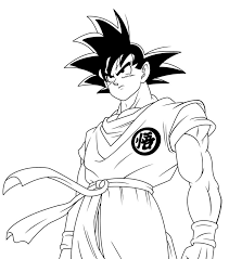 dragon ball coloring pages goku glum