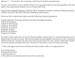 design criteria questions solved questions 1 7 will all deal with normalizing a tab