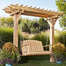 Pergola Post Design by Easy Swinging Arbor With Swing Woodworking Plan From Wood Magazine