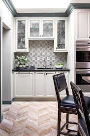 backsplash for black and white kitchen black and white mosaic kitchen backsplash tiles transitional