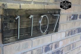 modern rustic home address sign farmhouse espresso house