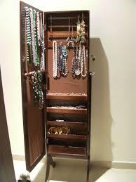 standing mirror jewelry cabinet bedroom adorable jewelry cabinet with full length mirror free