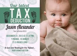 birth announcement hilarious birth announcements tax deduction