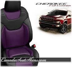 purple jeep cherokee 2014 2019 jeep cherokee custom leather upholstery
