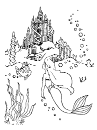 mermaid colotring pages