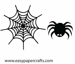 halloween spider line drawing