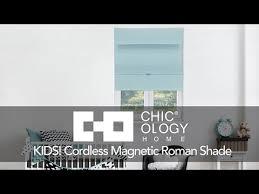 Kids Roman Shades - chicology kids cordless magnetic roman shade youtube