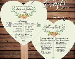 fan shaped wedding programs olive fans etsy