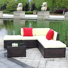 Outdoor Patio Furniture Sectionals Patio Ideas Lizkona Outdoor Patio 4 Pcs Sectional Sofa Set By