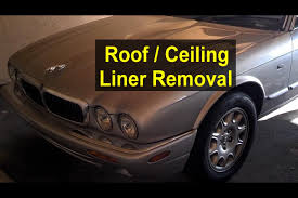 roof ceiling liner removal jaguar xj8 votd youtube