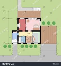 Floor Plans With Furniture Architectural Plan Landscapeground Floorflat Projection Furniture