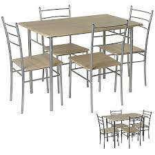 breakfast table with 4 chairs 5 pc dining table 4 chairs set modern kitchen black silver breakfast