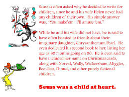 who was dr seuss creative writing i pace dr seuss was a man