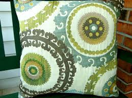 blue brown tan suzani ikat throw pillow covers zippers all zoom