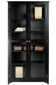 Bookcase With Doors Black Oxford 72 H Bookcase With Glass Doors Six Shelf 36